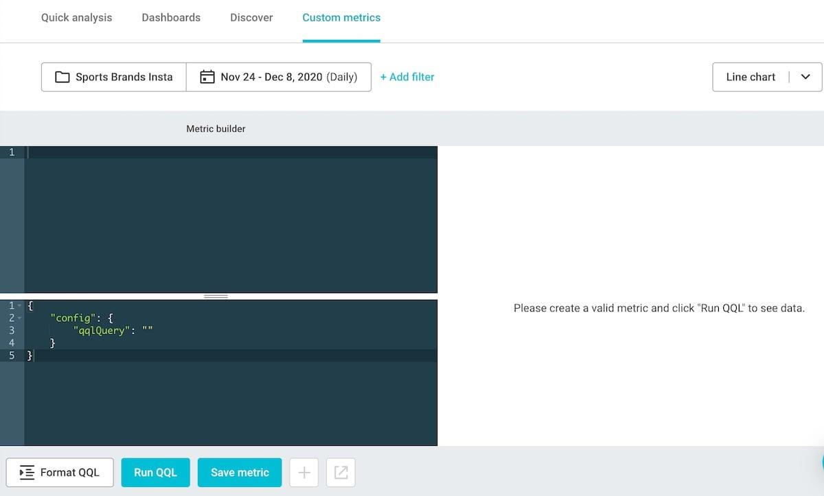 01 best social media analytics tool - build custom metrics with QQL
