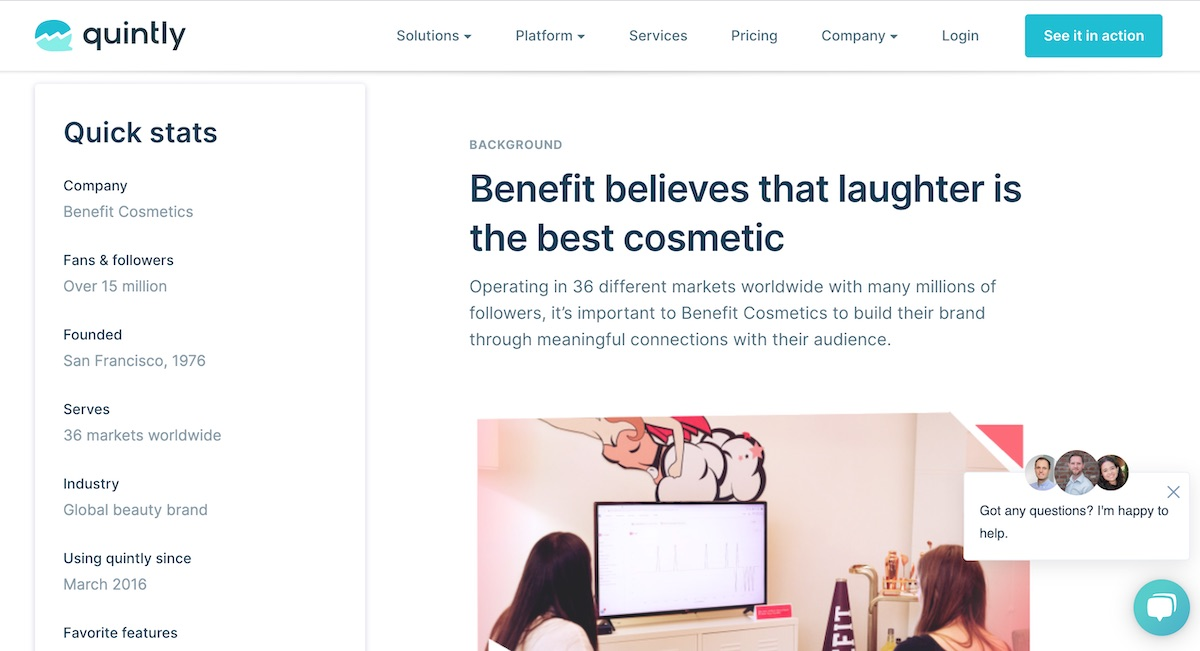 05 social media case study - benefit cosmetics - background