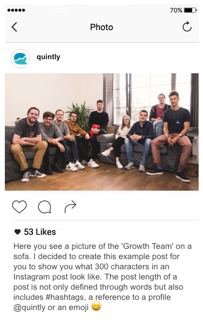 Instagram Sample Post