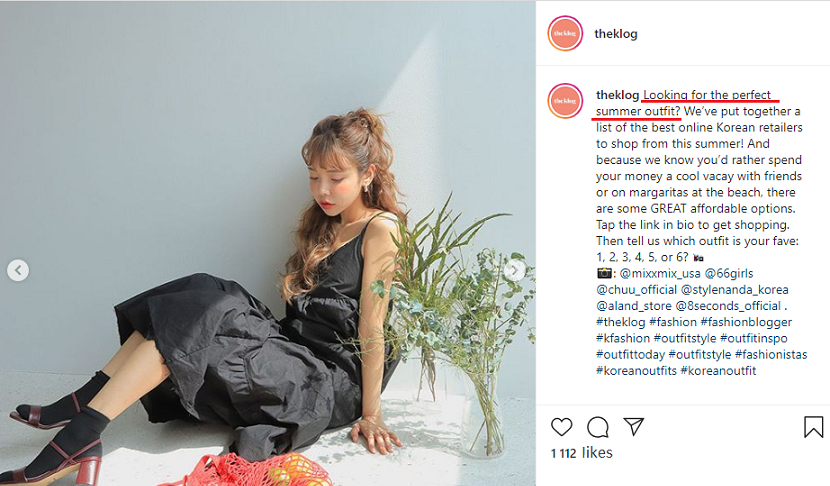 copywriting hacks to use in Instagram posts