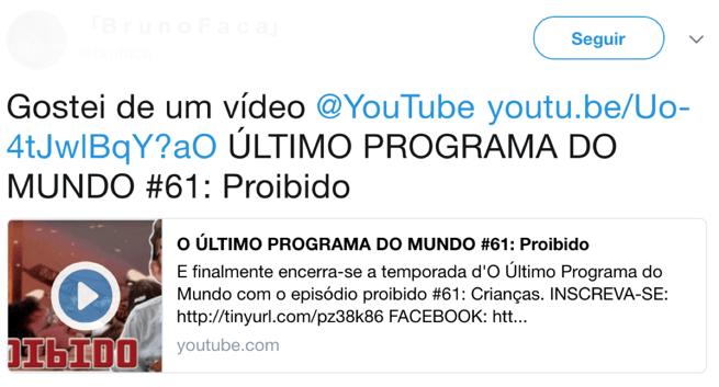 mensagem_automatica_youtube_no_twitter