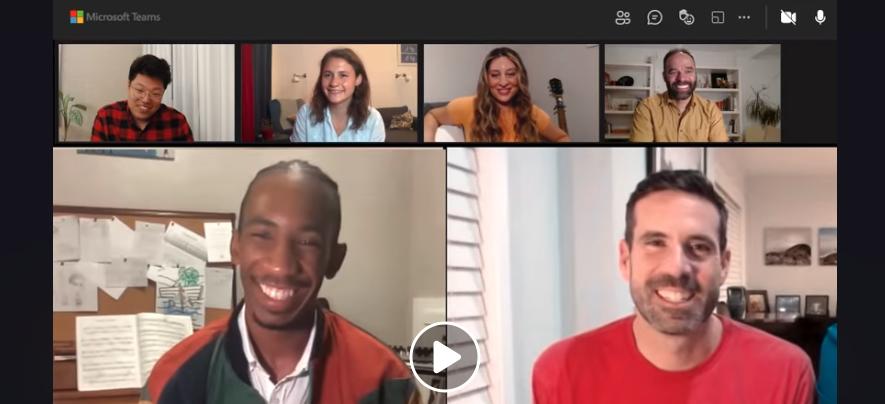 Social media storytelling Microsoft Teams